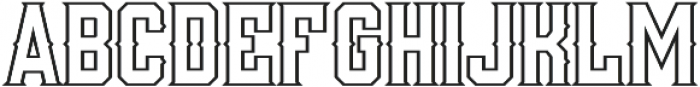 Woodchuck 0216 Outline otf (400) Font UPPERCASE