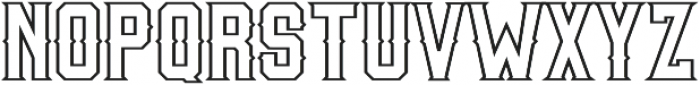Woodchuck 0216 Outline otf (400) Font LOWERCASE