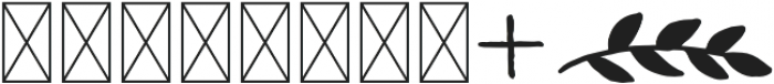 Woodland Monograms 2 Monogram otf (400) Font OTHER CHARS