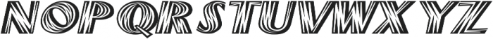 Woods Italic ttf (400) Font LOWERCASE