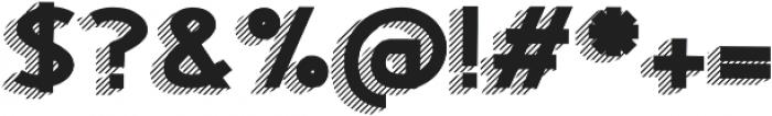 Woodward black striped 3d otf (900) Font OTHER CHARS