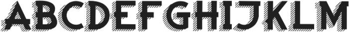 Woodward black striped 3d otf (900) Font UPPERCASE