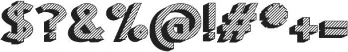 Woodward striped black shadow otf (900) Font OTHER CHARS