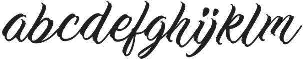 Work In Progress Regular otf (400) Font LOWERCASE