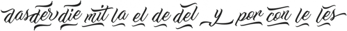 Work In Progress Words And Unde otf (400) Font LOWERCASE
