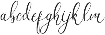 Workaholic otf (400) Font LOWERCASE