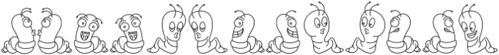 Wormies Icon otf (400) Font LOWERCASE