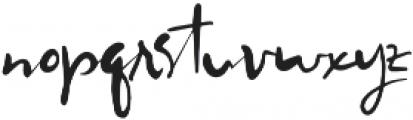 Worthy Story Script otf (400) Font LOWERCASE