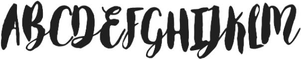 Worthy otf (400) Font UPPERCASE