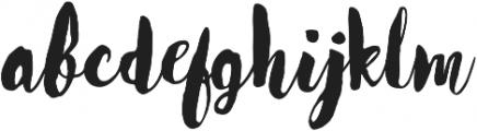Worthy otf (400) Font LOWERCASE