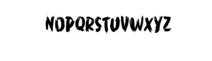 WORKSHOP Brush font Font UPPERCASE