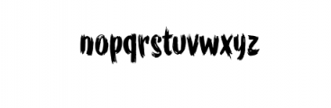 WORKSHOP Brush font Font LOWERCASE