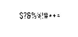 WoobBurn-Bold.otf Font OTHER CHARS