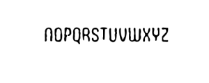 WoobBurn-Bold.otf Font UPPERCASE