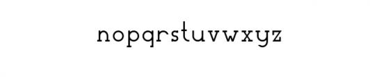 Woolacombe-outline.otf Font LOWERCASE