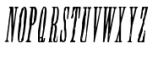 Wood Type Collection Condom Italic Font UPPERCASE
