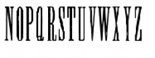Wood Type Collection Condom Font UPPERCASE