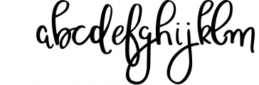 Wonderful & Perfect - A Script Font Font LOWERCASE