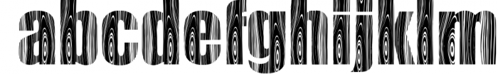 Wooden Font LOWERCASE