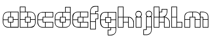 WODENBLOKS Font LOWERCASE