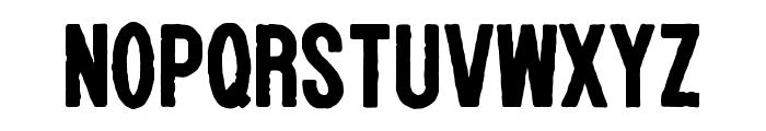 WOLF GANG ROUGH BOLD Font UPPERCASE