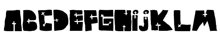 WOODCUTTER CROSS Font UPPERCASE