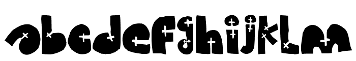 WOODCUTTER CROSS Font LOWERCASE