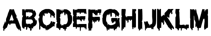 WOODCUTTER DRIPPING CLASSIC FONT Font UPPERCASE