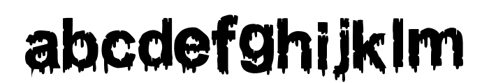 WOODCUTTER DRIPPING CLASSIC FONT Font LOWERCASE