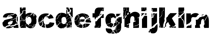 WOODCUTTER STORM Font LOWERCASE