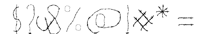 WOODCUTTER WIRE FENCE Font OTHER CHARS