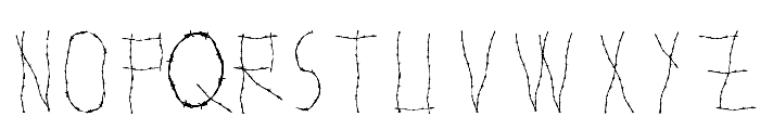 WOODCUTTER WIRE FENCE Font UPPERCASE