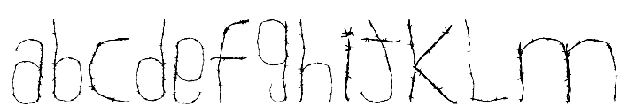 WOODCUTTER WIRE FENCE Font LOWERCASE