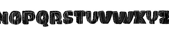 WOOD Font LOWERCASE
