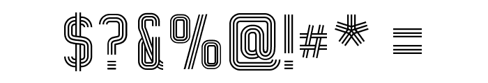 WOX-Striped Triple Demo Font OTHER CHARS