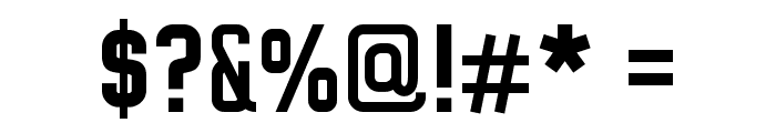 WOX~Modelist Bold Demo Font OTHER CHARS