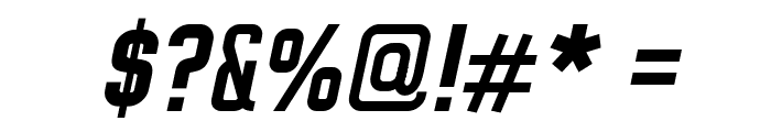 WOX~Modelist Bold Italic Demo Font OTHER CHARS