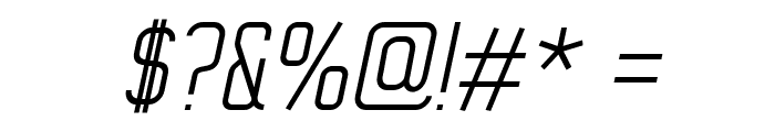 WOX~Modelist Light Italic Demo Font OTHER CHARS