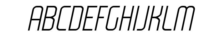 WOX~Modelist Light Italic Demo Font UPPERCASE