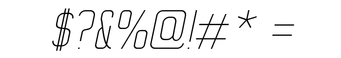 WOX~Modelist Thin Italic Demo Font OTHER CHARS
