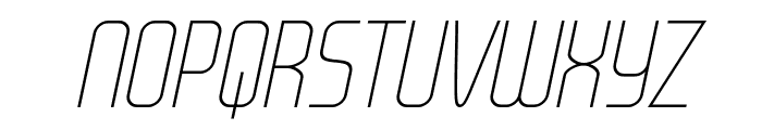 WOX~Modelist Thin Italic Demo Font UPPERCASE