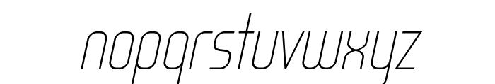 WOX~Modelist Thin Italic Demo Font LOWERCASE