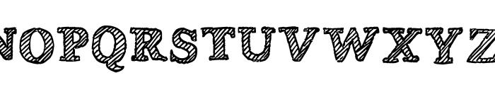 Wobbly Bob Font UPPERCASE