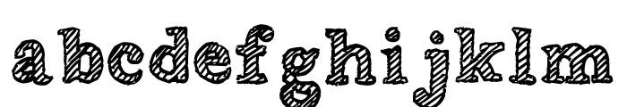 Wobbly Bob Font LOWERCASE