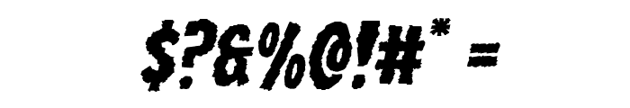Wolf Brothers Expanded Italic Font OTHER CHARS