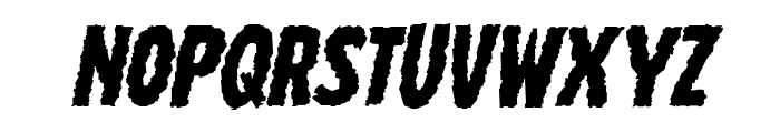 Wolf Brothers Expanded Italic Font LOWERCASE