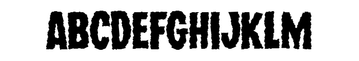 Wolf Brothers Expanded Font LOWERCASE