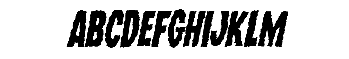 Wolf Brothers Staggered Italic Font UPPERCASE
