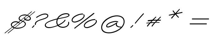 Wolframia Font OTHER CHARS
