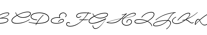 Wolframia Font UPPERCASE